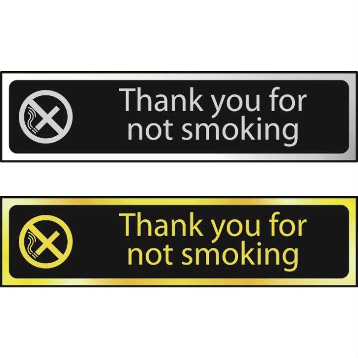 Thank You For Not Smoking POL (200 x 50mm)