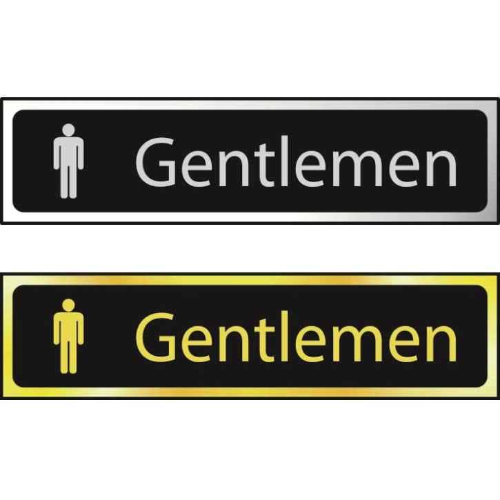 Gentlemen Sign POL (200 x 50mm)