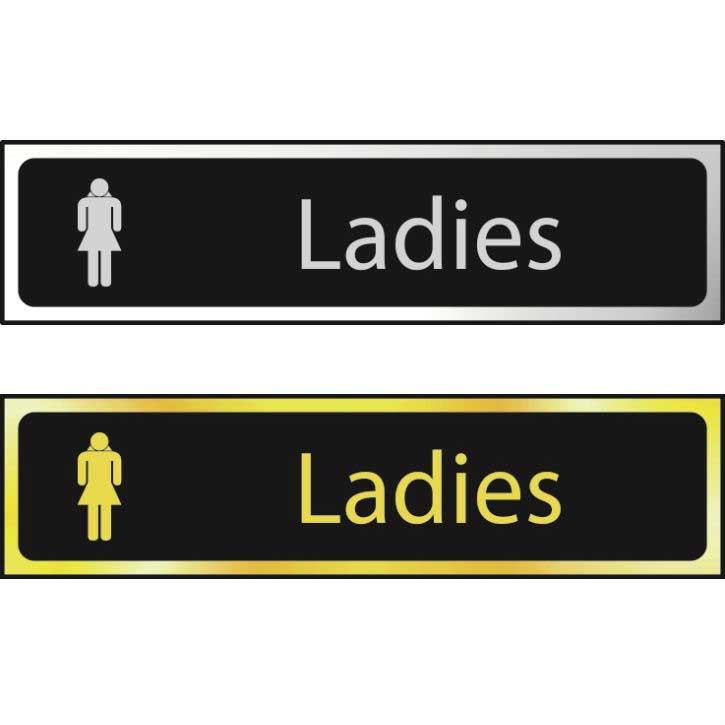 Ladies Sign CHR (200 x 50mm)