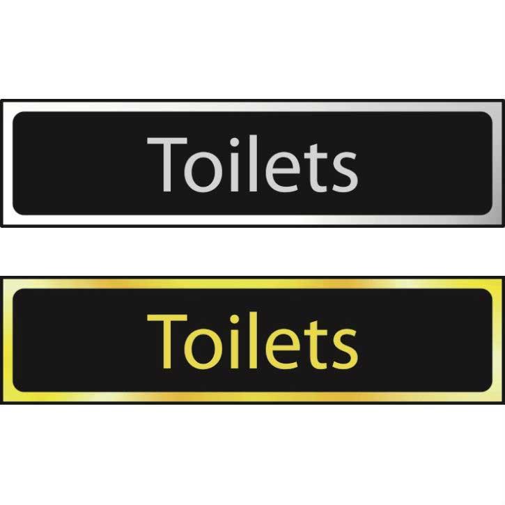 Toilets Sign CHR (200 x 50mm)