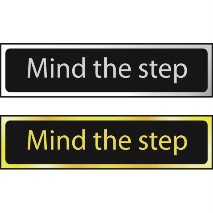 Mind The Step Sign POL (200 x 50mm)