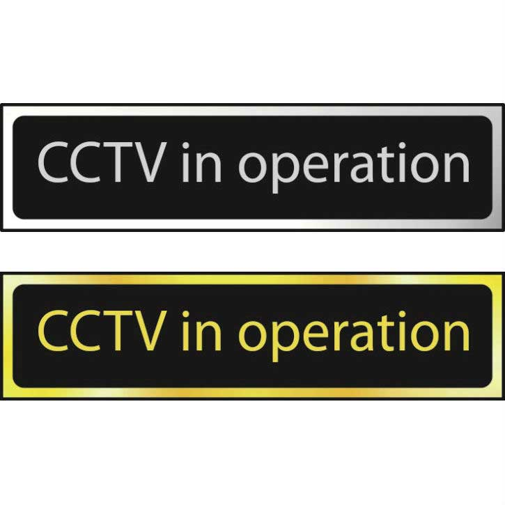 CCTV In Operation Sign POL (200 x 50mm)