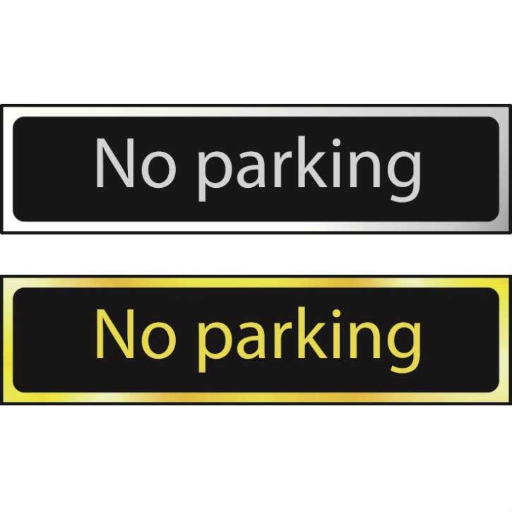 No Parking Sign POL (200 x 50mm)