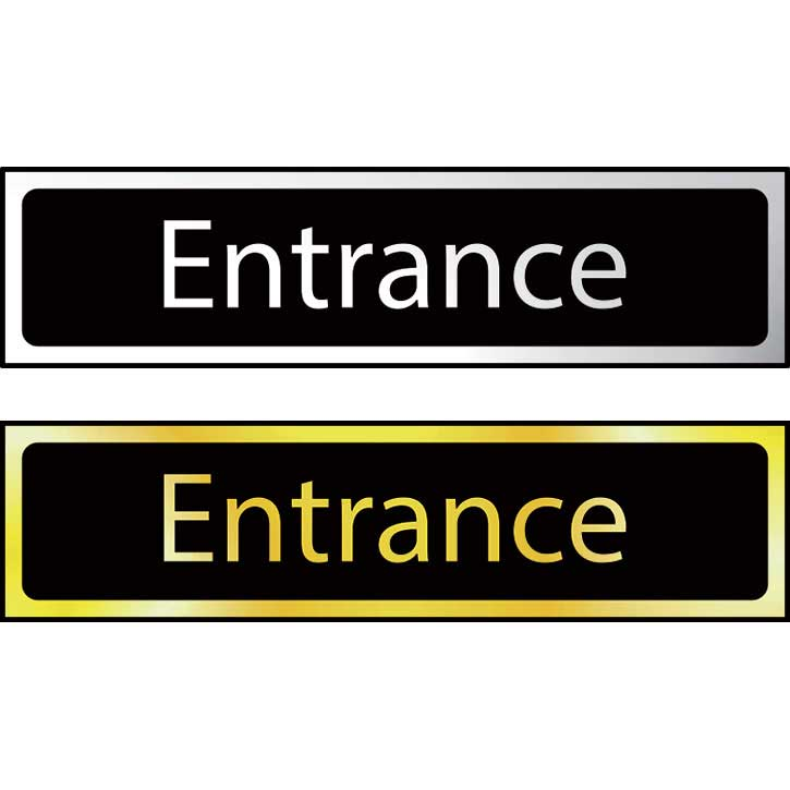 Entrance Sign POL (200 x 50mm)