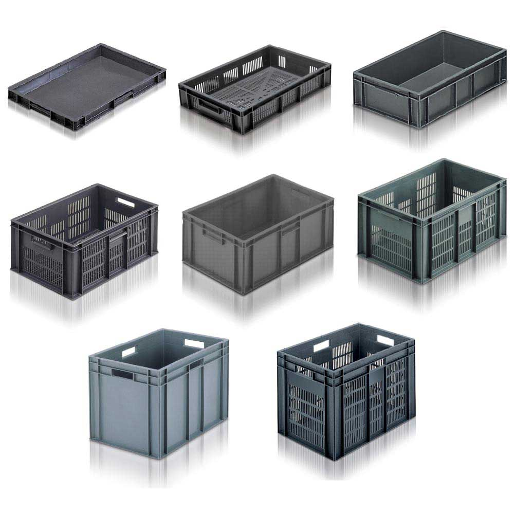 Euro Stacker Container Grey or Red 60 Litre 600 x 400 x 319