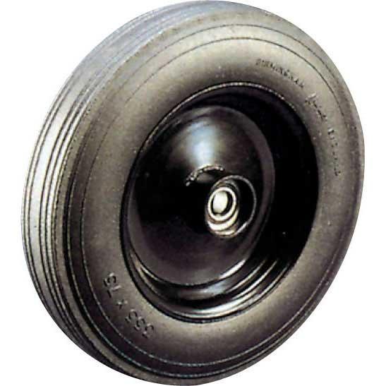 405dia Cushion Tyre Wheels with Steel centre Plain Bearing 500kg cap