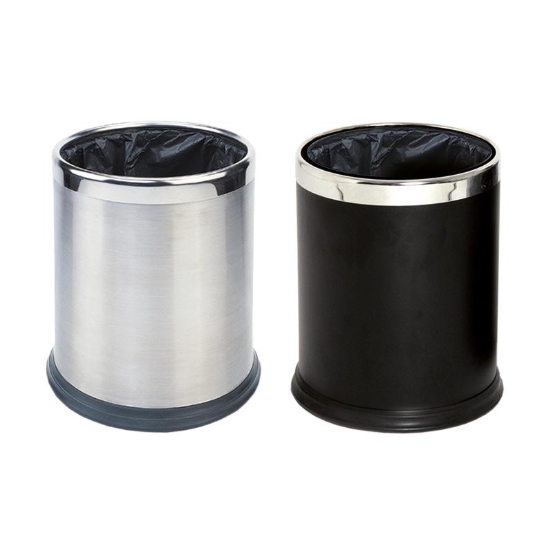 Round Waste Basket 10L, Stainless Steel