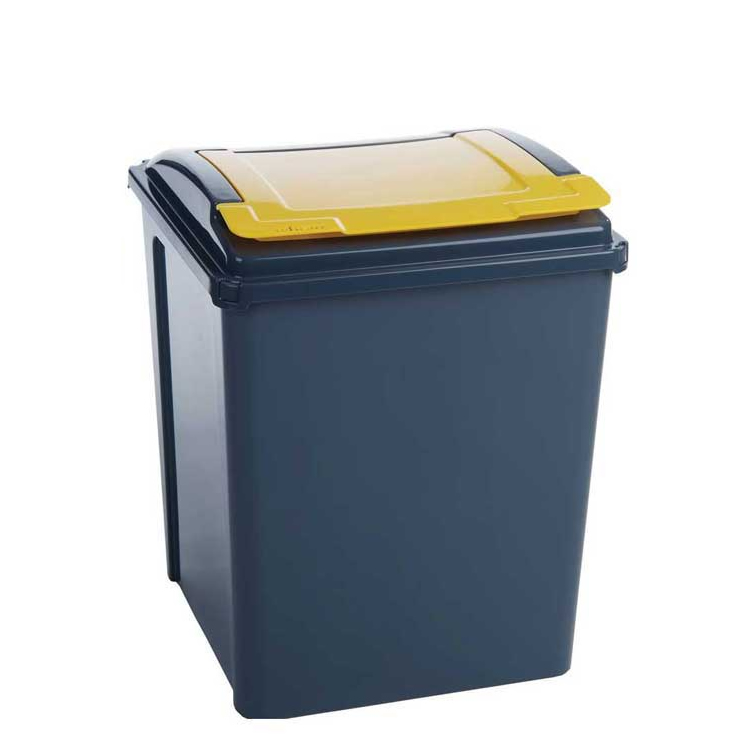 25 Litre Recycling Bin With Blue Lid - 510 x 190 x 400mm