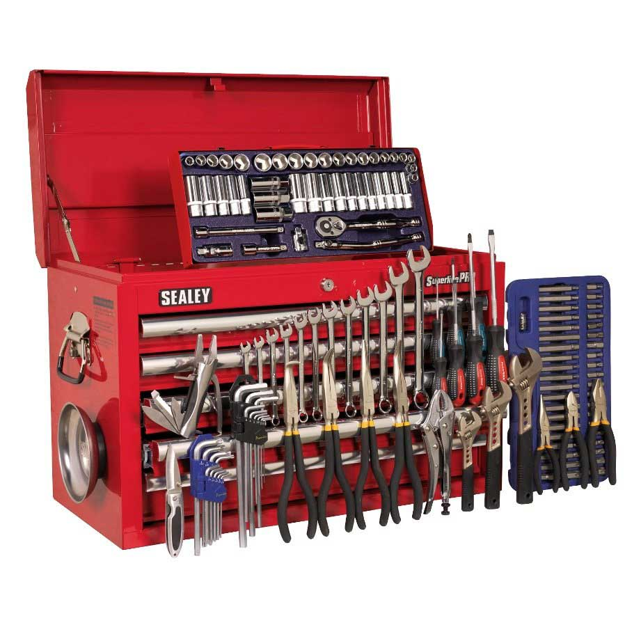 Sealey HD 5 Drawer Top Chest Tool Box with 138pc Tool Kit