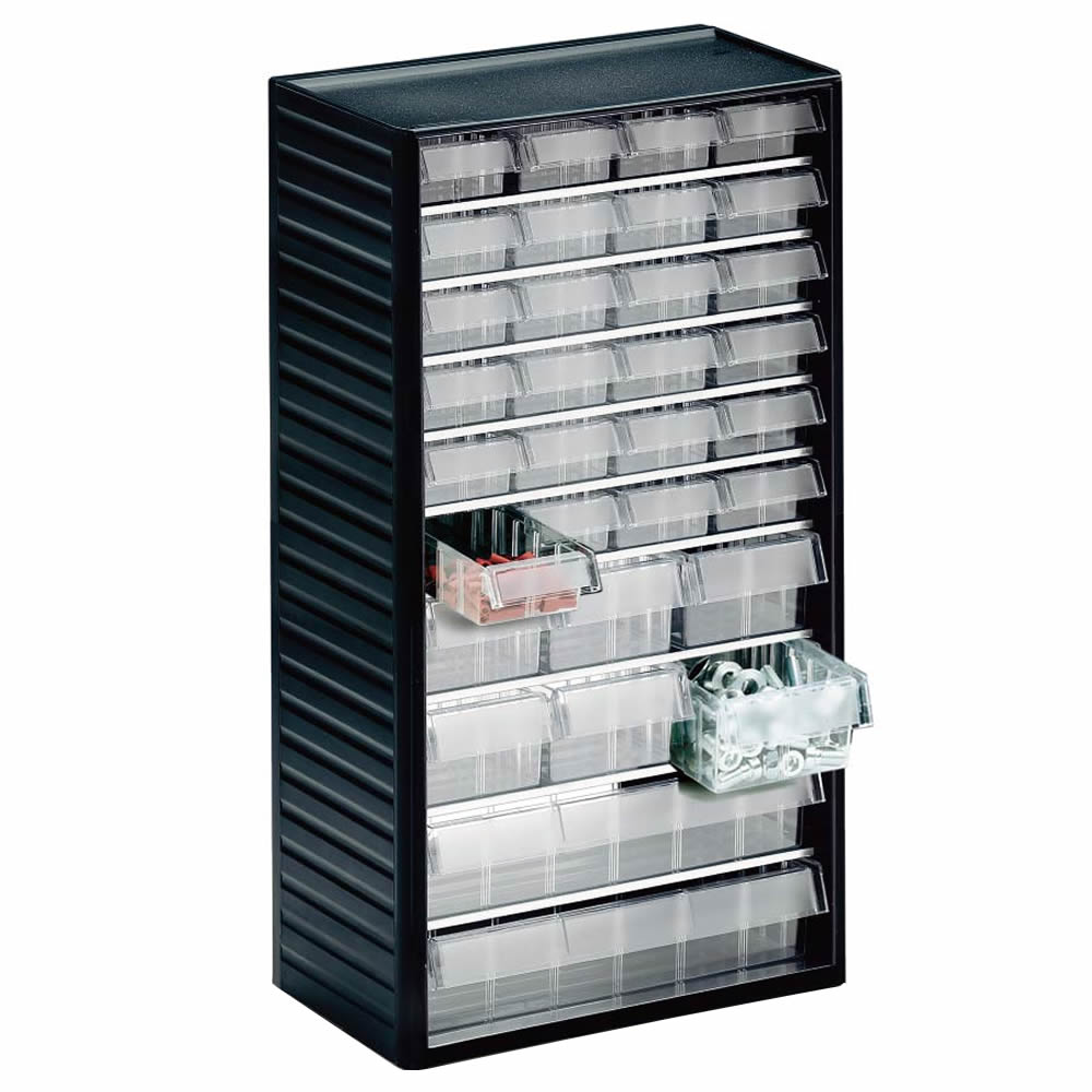 550 Series Visible Storage Cabinet with 60 Drawers 37h x 55w x 175d