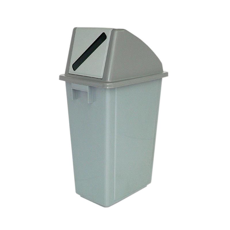 58L Grey Indoor Recycling Bin with Grey Slot Lid