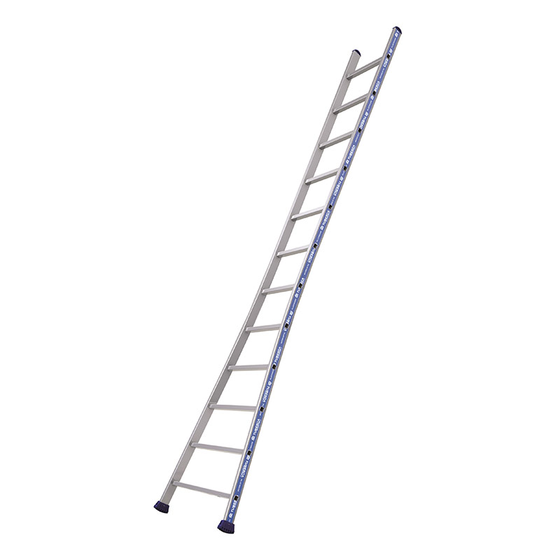 Office Supplies EN131 Rated Professional Ladder with Splayed Base- 14 rungs - 4080mm high