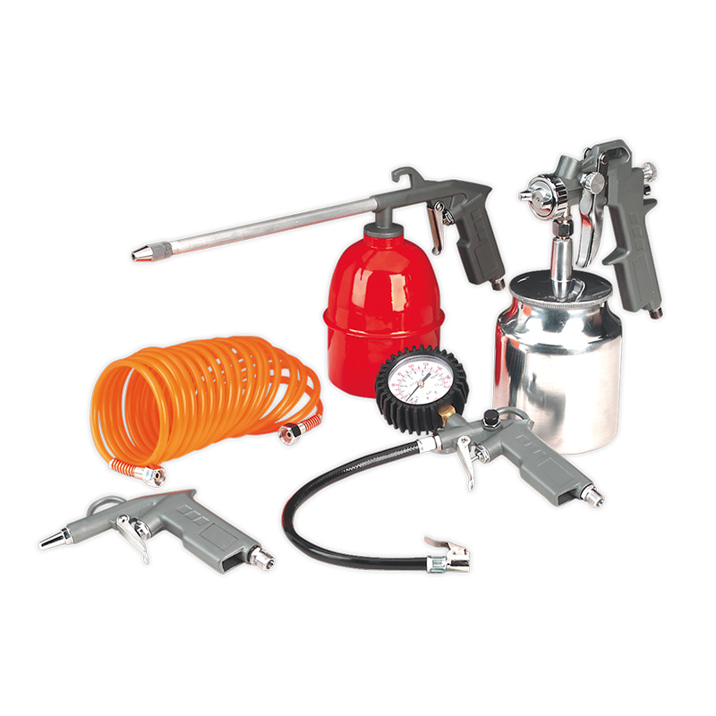 Air Compressor 5 Piece Accessory & Tool Kit