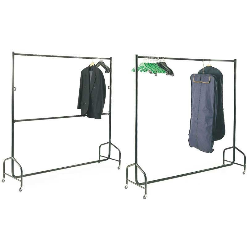 Black Mobile Garment Rail Mobile 1200w x 490d