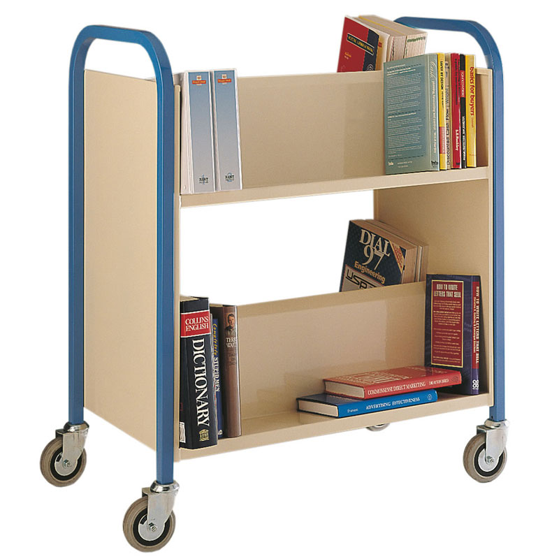 Book Trolley  150kg Double Sided Two Tier Trolley 4 Swivel Castors