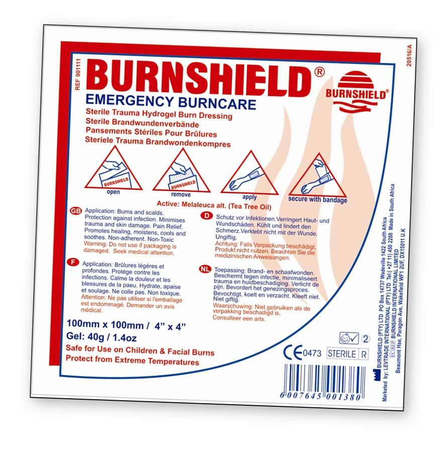Burnshield Hydrogel Dressing
