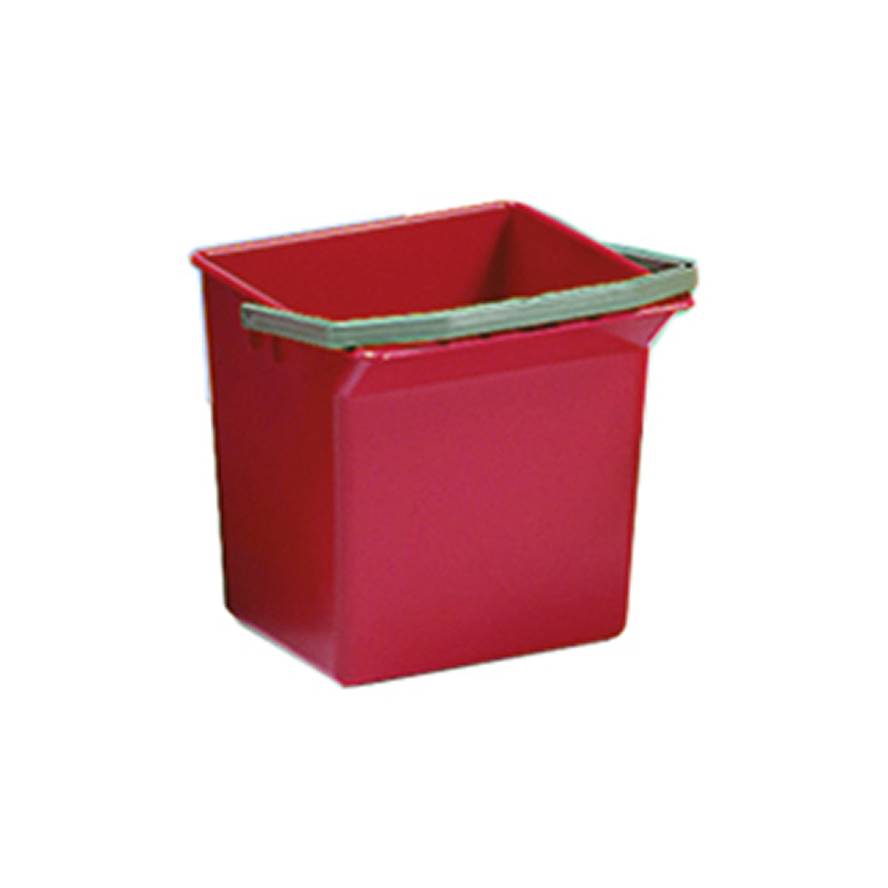 4L Red Cleaning Trolley Bucket