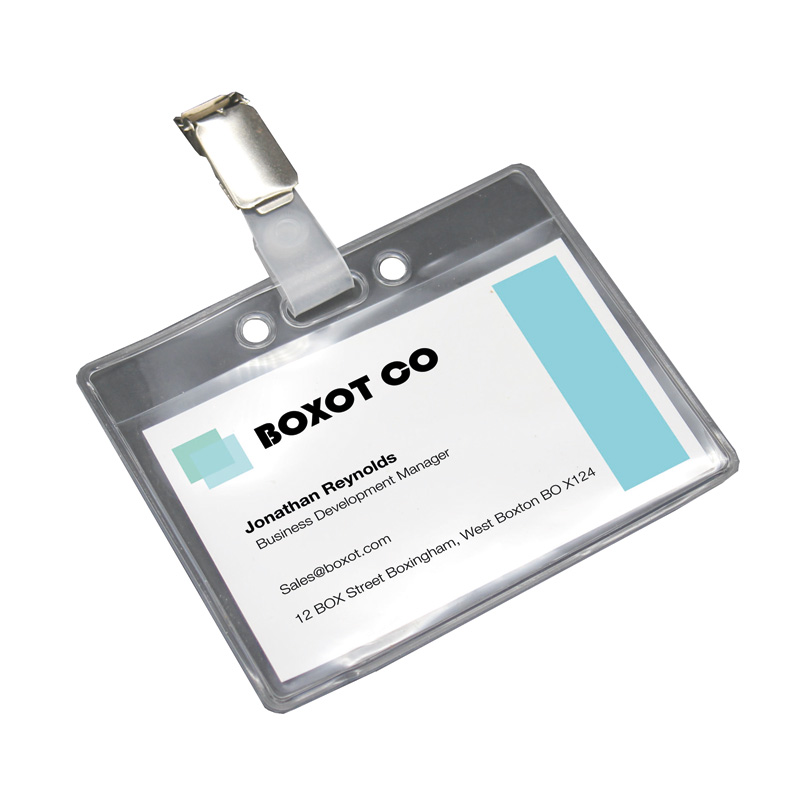 Clear Plastic Name Badge Holder