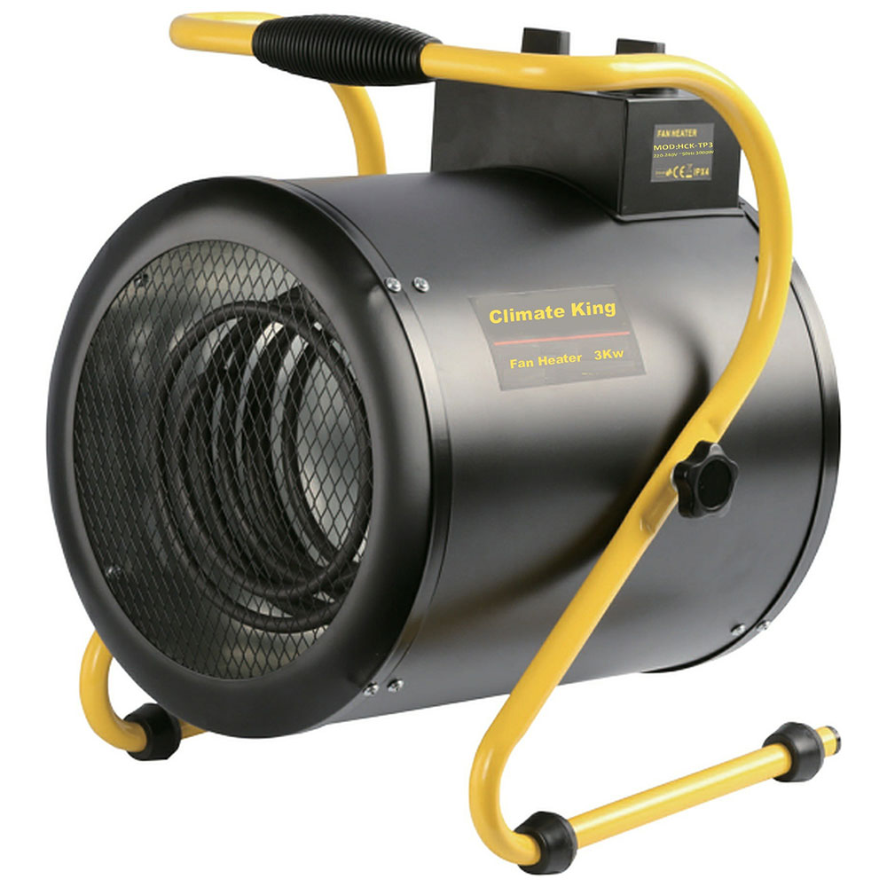 Climate King 3kw Torpedo Fan Heater With 2 Heating Levels Plus A Fan Only Mode