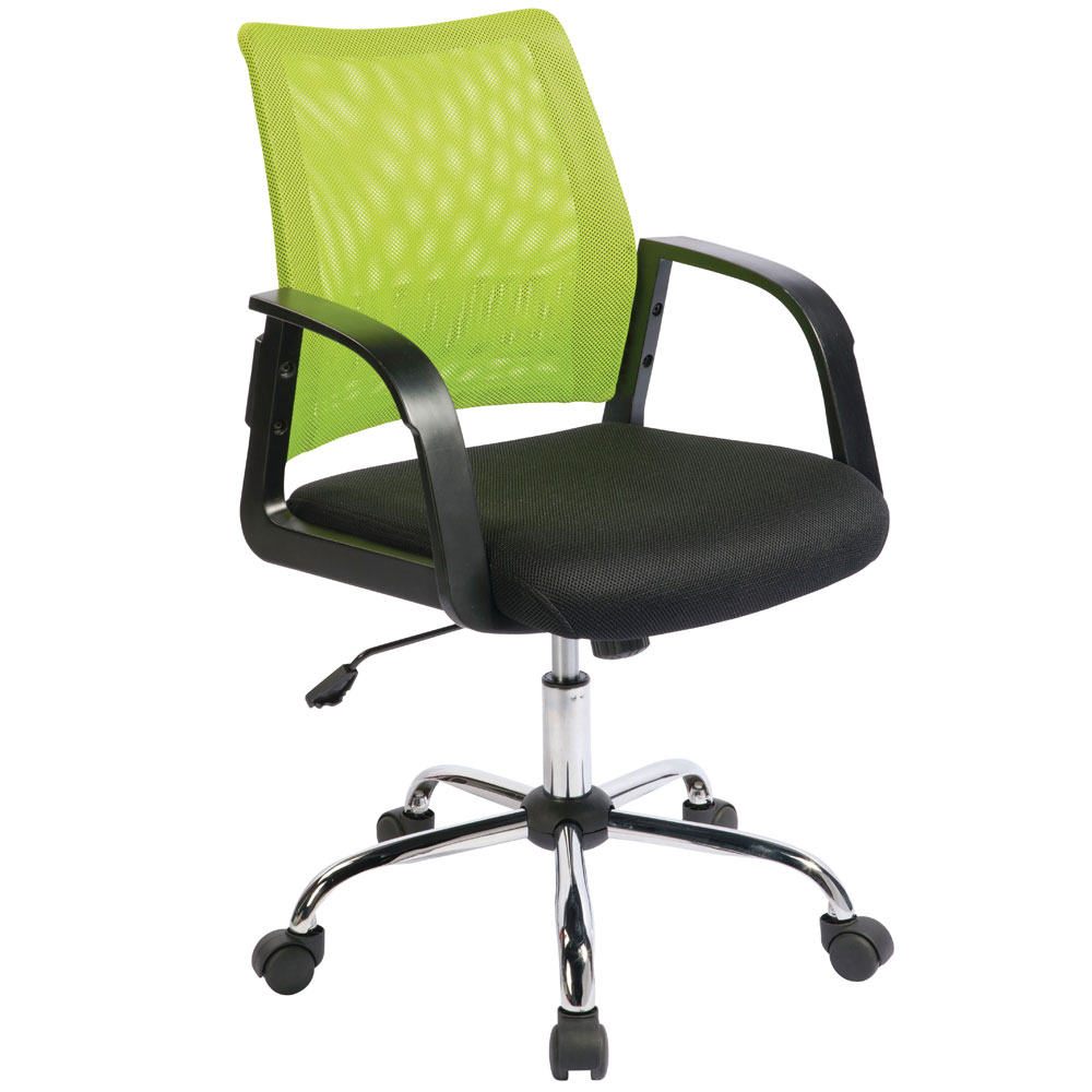Image of Green/Black Medium Back Mesh Task Chair