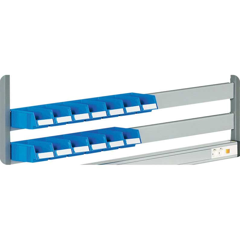 Container / Bin Rail for TPH workbenches for 1200w bench