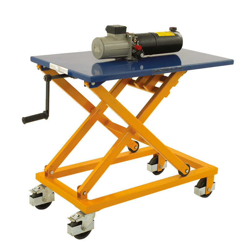 Crank Operated Lifting Table with 300kg Capacity