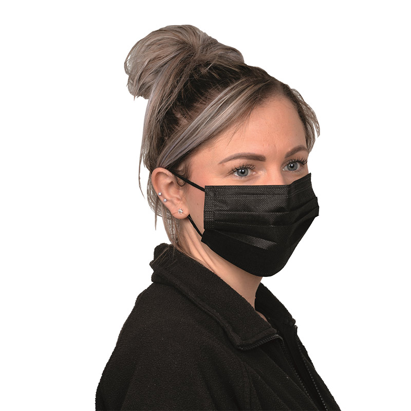 Disposable Black Face Masks (Pack of 50)