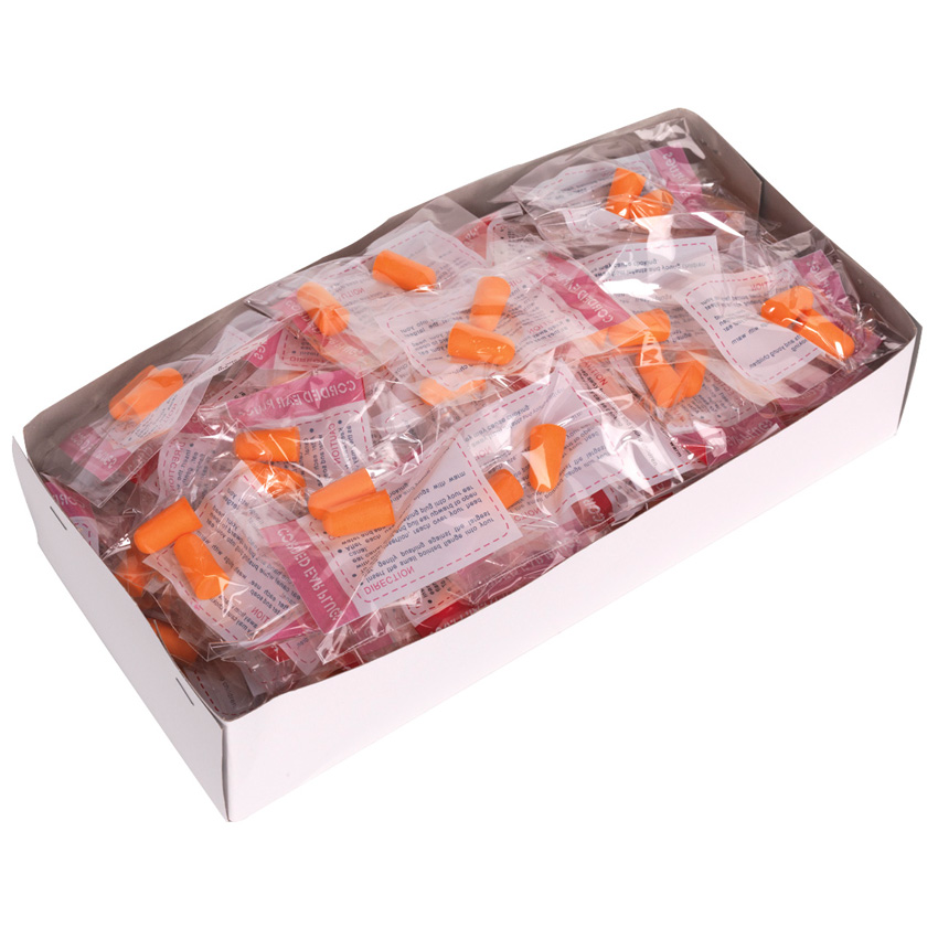 Ear Plugs  Box of 100 Disposable Pairs