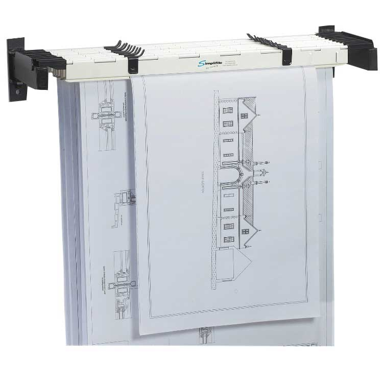 Image of ECO A2 Wall Rack with 10 A2 Planholders
