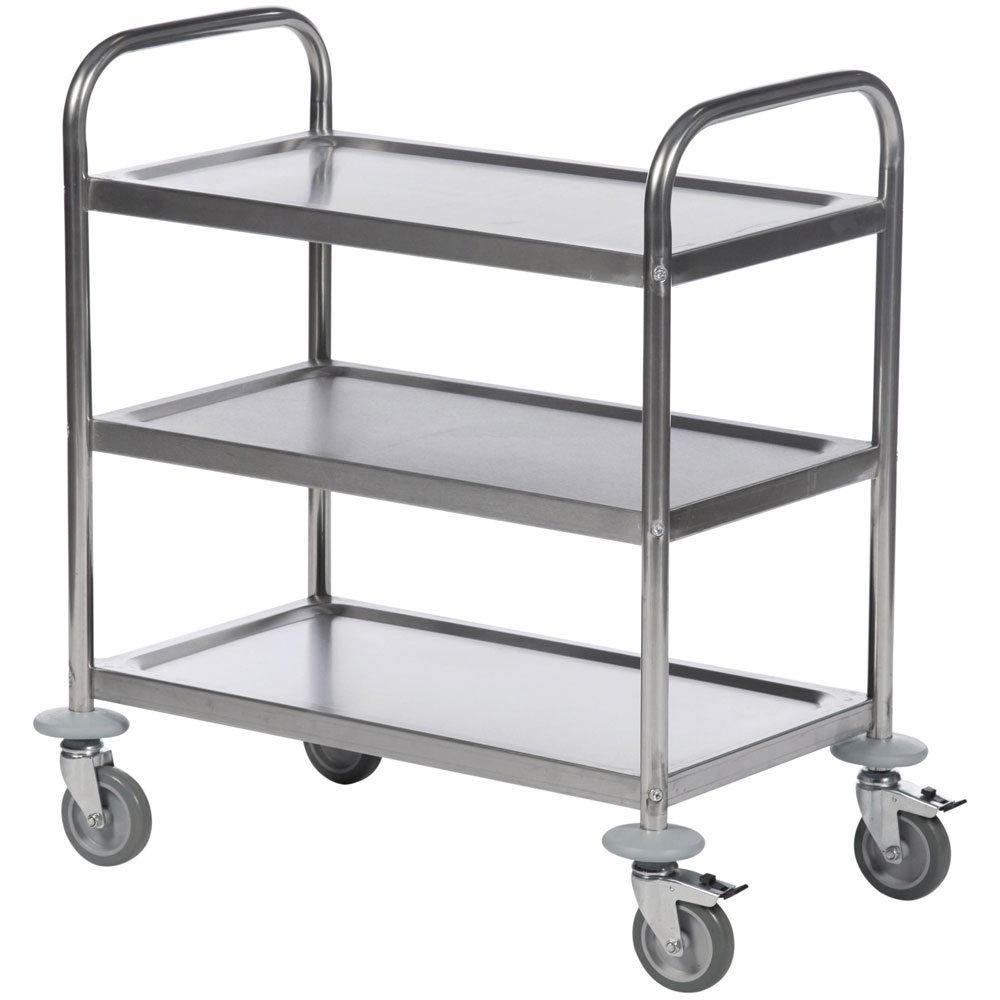 economy stainless steel trolleys with fast free uk delivery. Black Bedroom Furniture Sets. Home Design Ideas