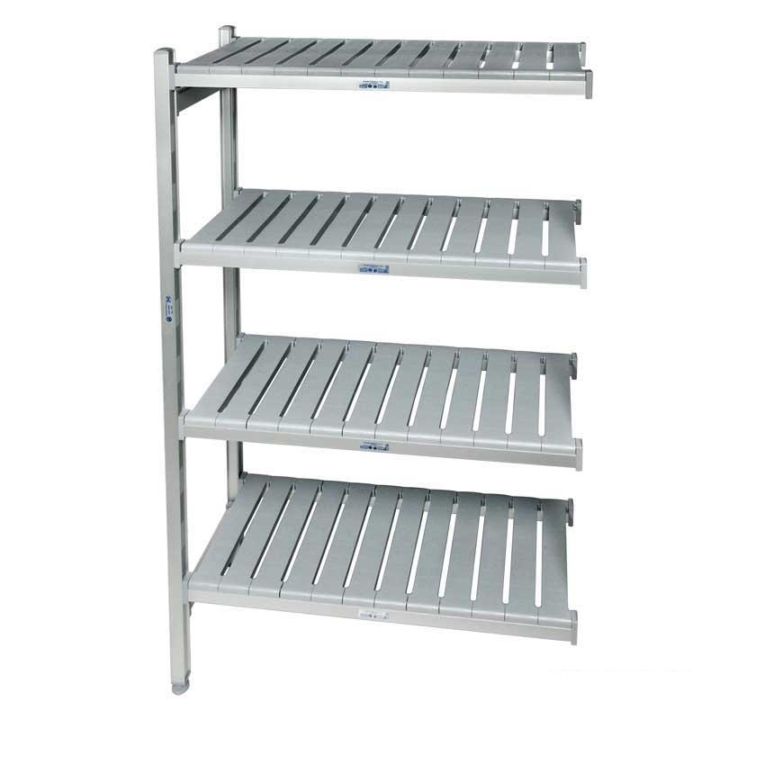 Eko fit Aluminium Shelving  4 Shelf levels 450d x 735 Extension Bay