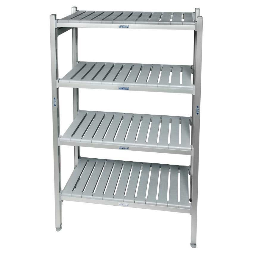 Eko fit Aluminium Shelving  4 Shelf levels 450d x 770 Starter Bay