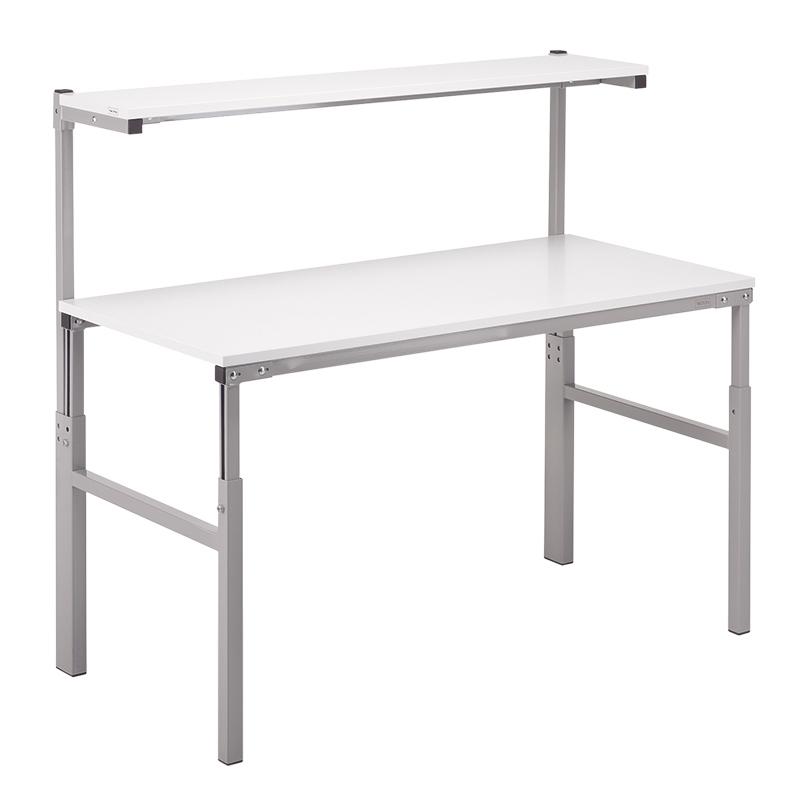 Height Adjustable ESD Workbench Allen Key 700x1200 Worktop inc Shelf