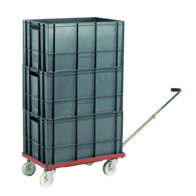 Euro Container Dolly without handle & 5 x 40L Euro Containers - 1150 x 420 x 625