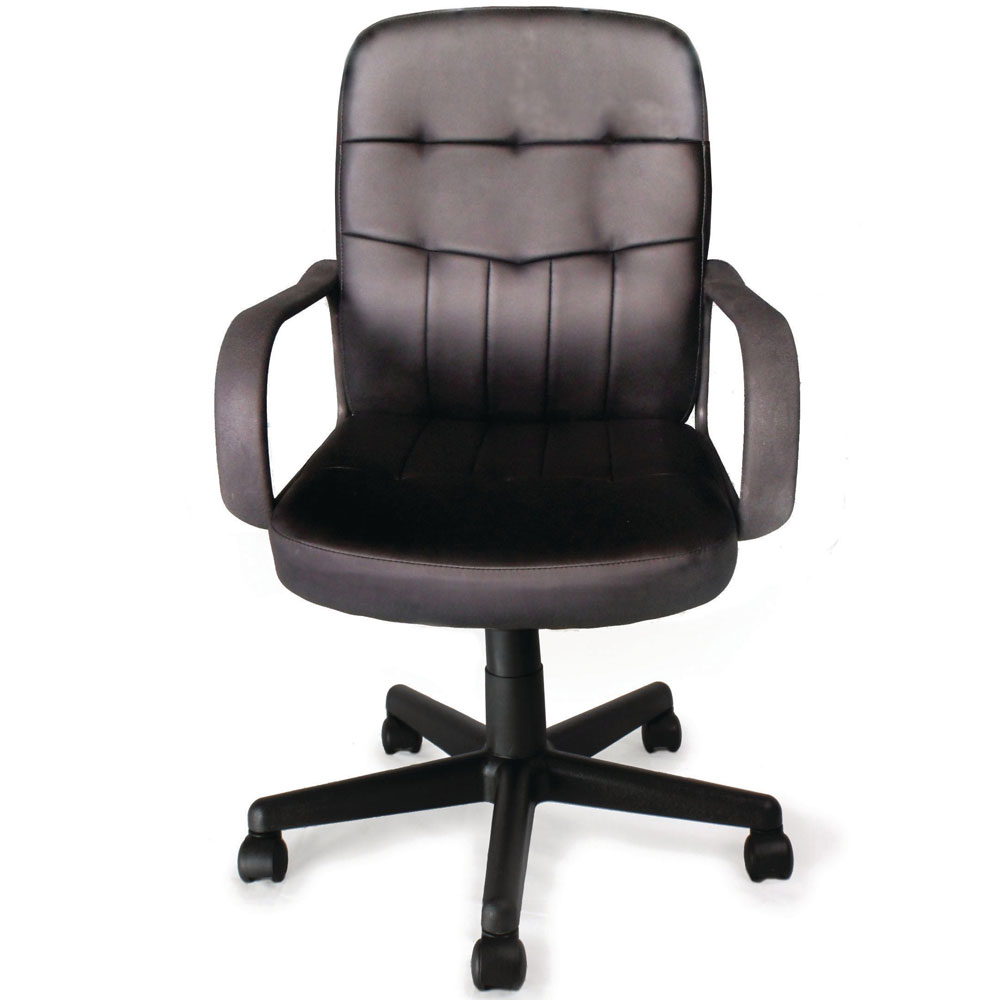 Executive Leather Office Chair with Tilt, Recline and Armrests