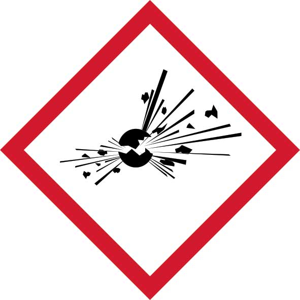 GHS Explosive Pictogram Labels Request a call back
