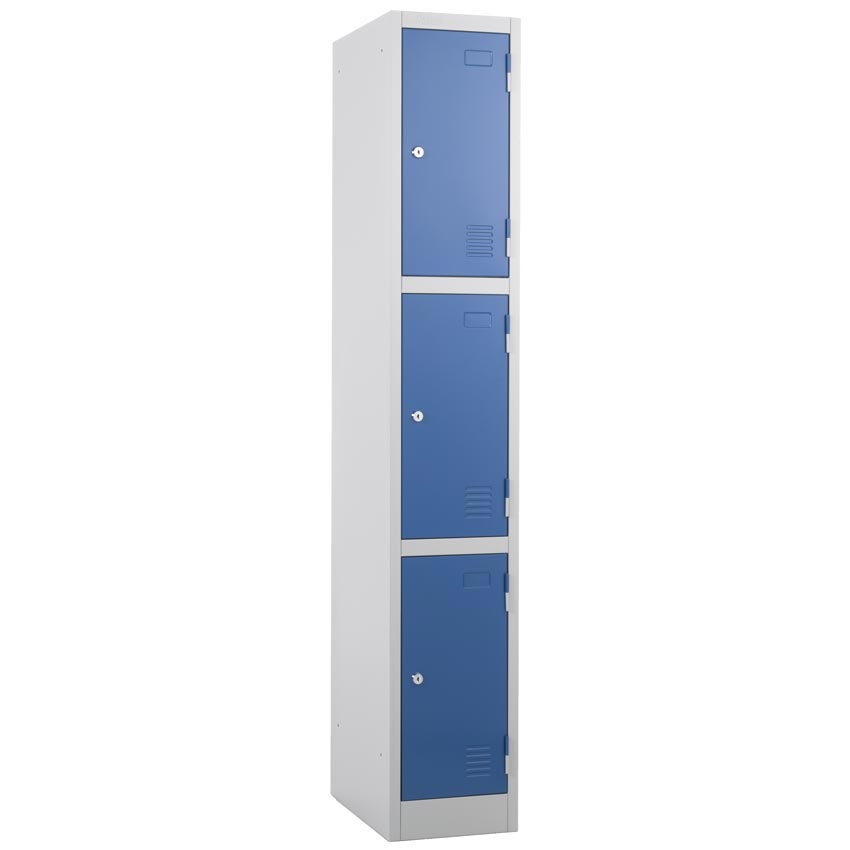 Atlas 3 door Locker  Grey Door with Key Lock 1800 x 300 x 300