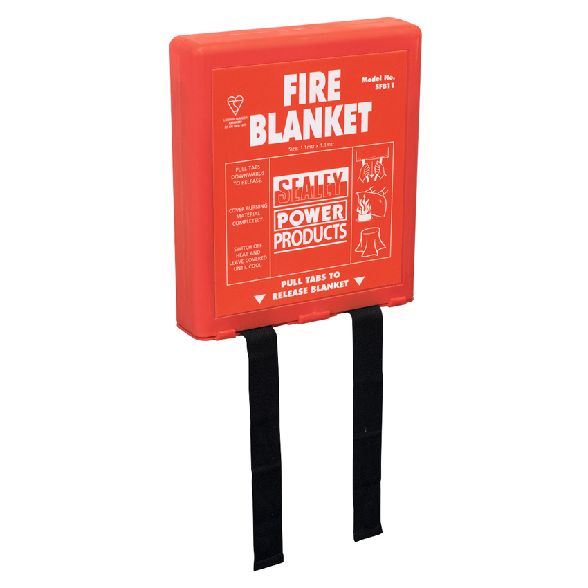 Fire Blanket with Wall Mounting Case, BS EN 1869