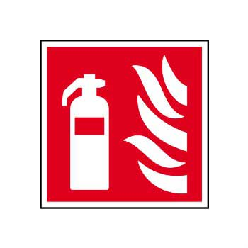 Fire Extinguisher Symbol & Text Sign - ESE Direct