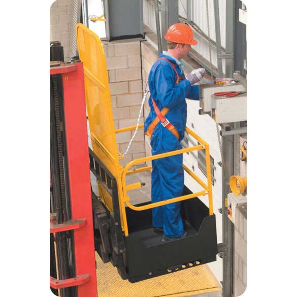 Folding Access Platform for forklifts 1m x 1m x 1.88m high
