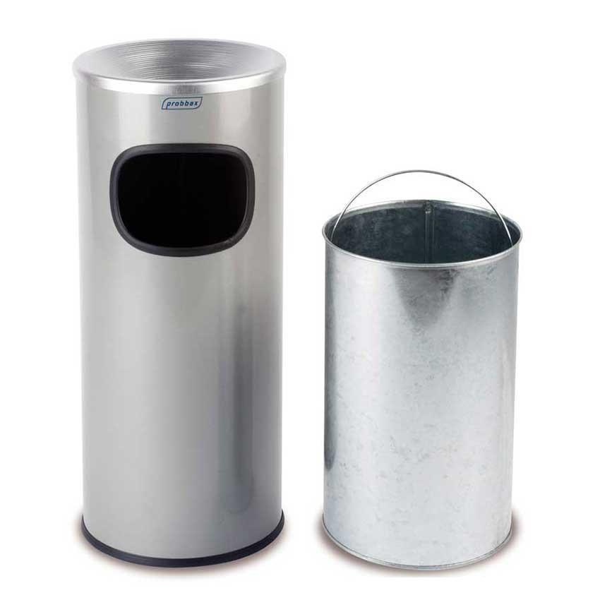 Stainless steel freestanding cigarette bin - 30L