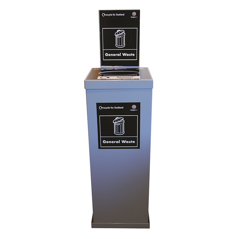 Indoor Recycling Bin System - Clear 80L Single Unit