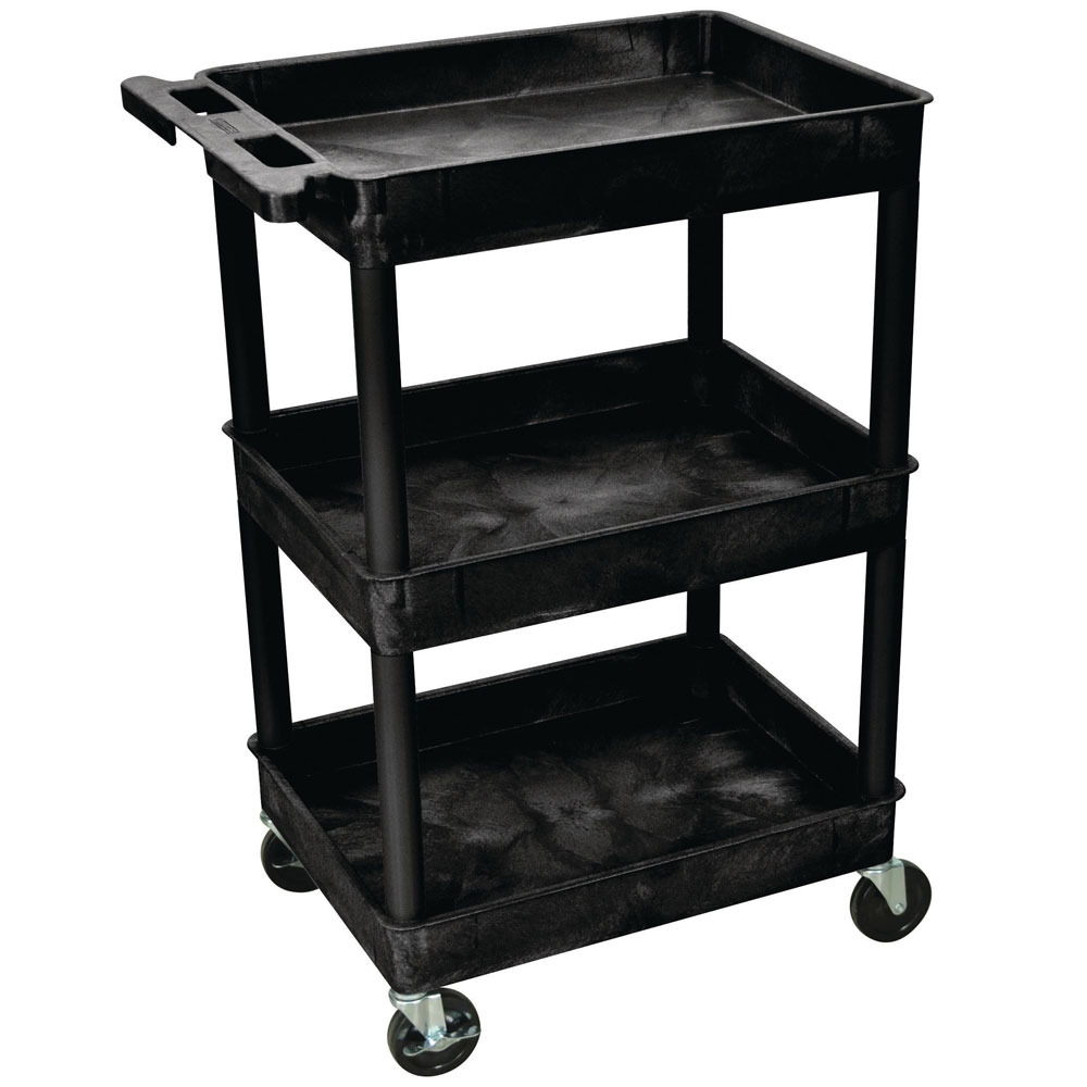 Heavy Duty 3 Tier Plastic Trolleys With Fast Free Delivery