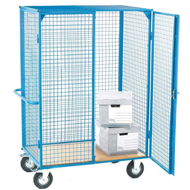 Heavy Duty Distribution Trolley with Plywood Shelf