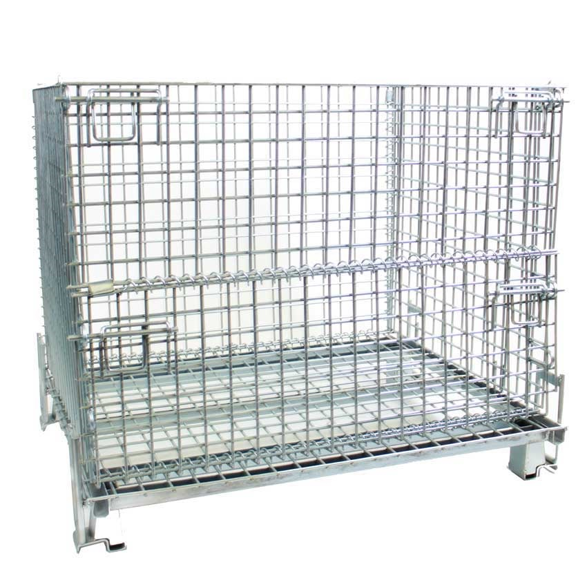 HD Folding Cage Pallets 1500kg cap 900h x 1200w x 1000d