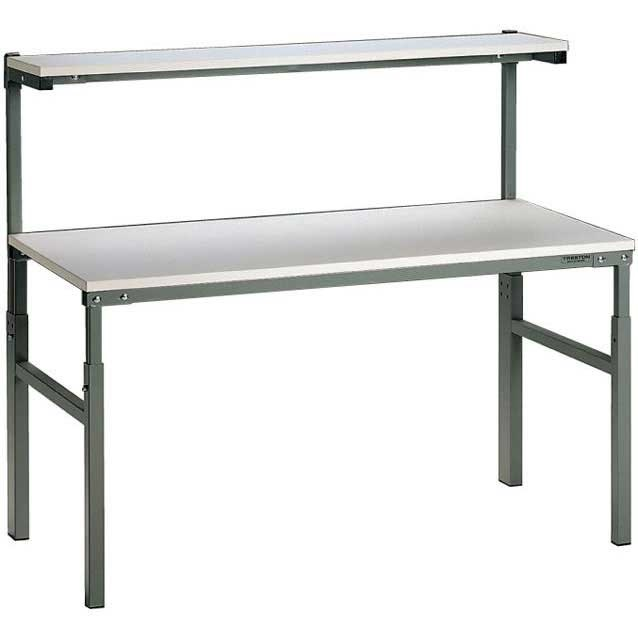 Height Adjustable TPH Bench with Upper Shelf 1200w x 700d