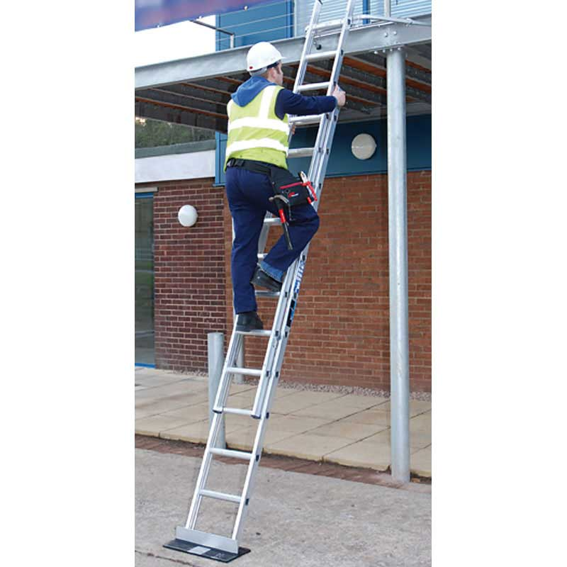 Industrial Ladders 2x 9 Rung Sections 4.25m Max H
