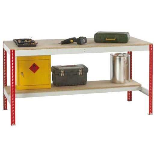 Just Workbenches Chipboard Top & Half Under shelf