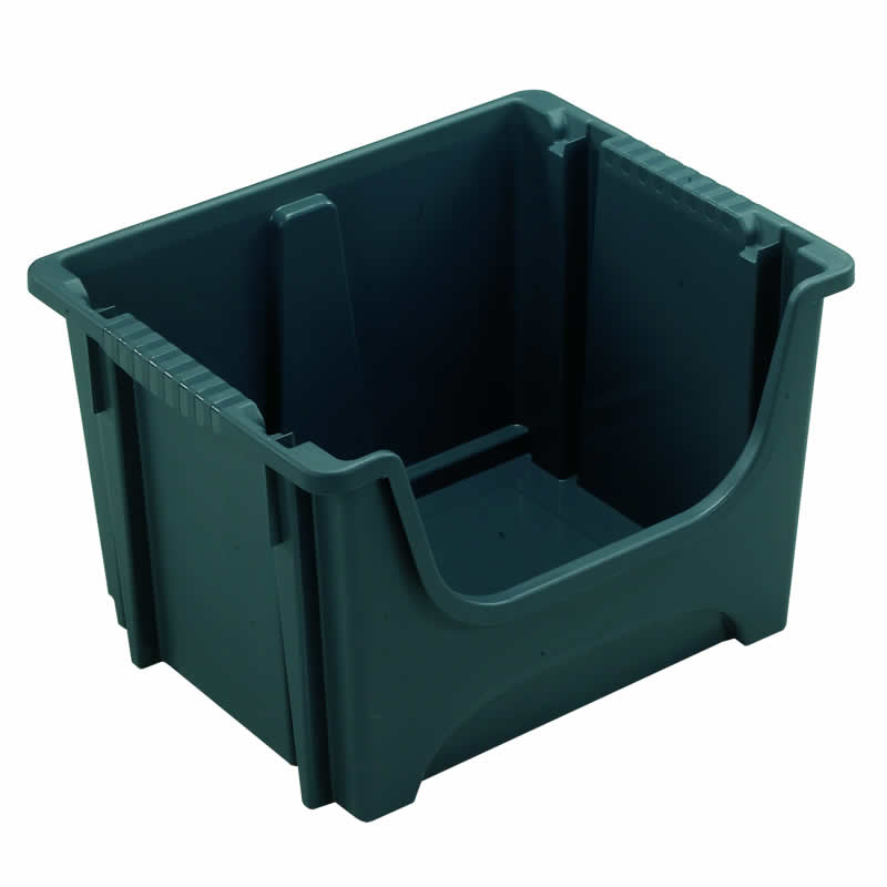 Large Plastic Stacking Picking Boxes - pack of 5