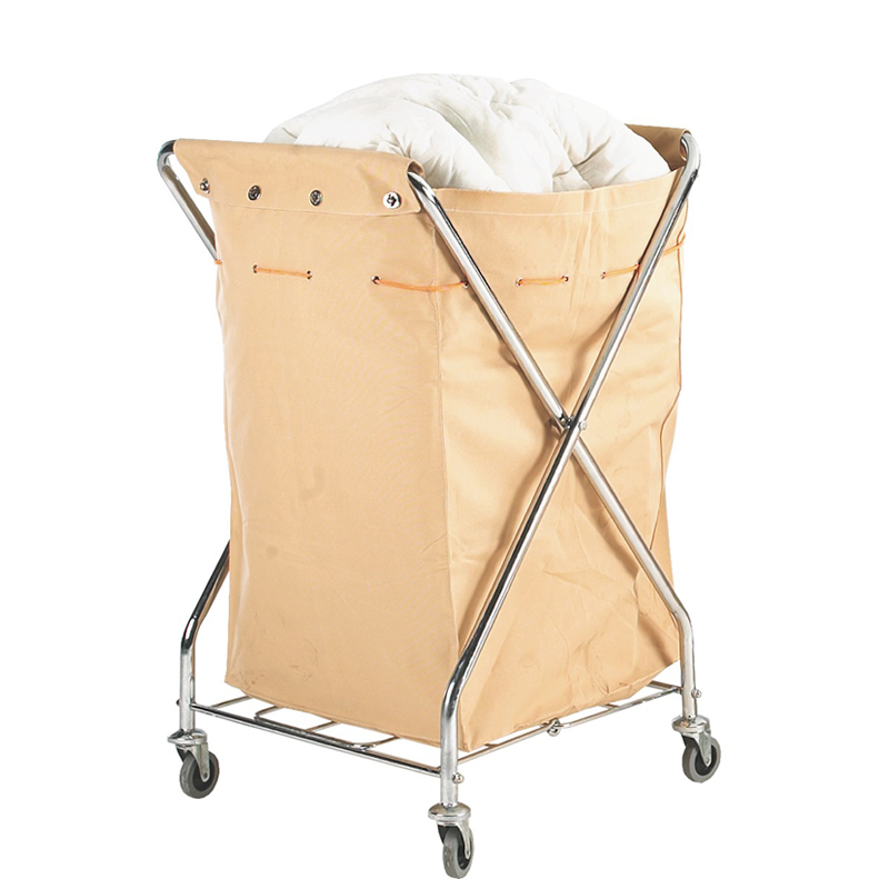 Commercial Laundry Trolley with Removable Canvas Sack